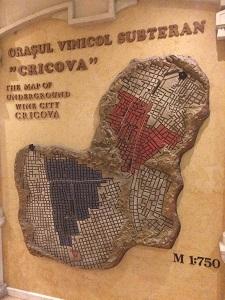Mapa de las minas subterráneas